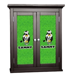 Cow Golfer Cabinet Decal - Custom Size (Personalized)