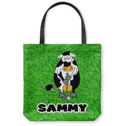 Cow Golfer Canvas Tote Bag (Personalized)