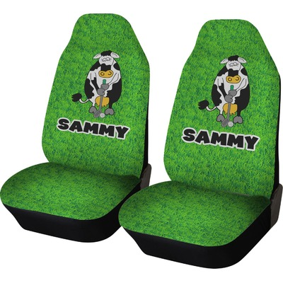 Cow Golfer Car Seat Covers (Set of Two) (Personalized)