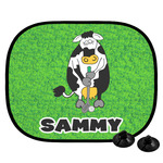 Cow Golfer Car Side Window Sun Shade (Personalized)
