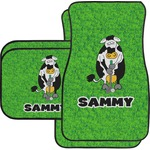 Cow Golfer Car Floor Mats (Personalized)