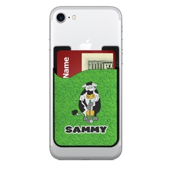 Cow Golfer Cell Phone Credit Card Holder (Personalized)