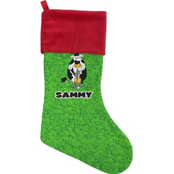Cow Golfer Christmas Stocking (Personalized)