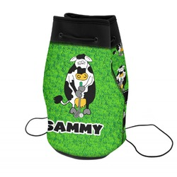 Cow Golfer Neoprene Drawstring Backpack (Personalized)
