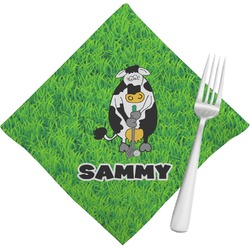 Cow Golfer Napkins (Set of 4) (Personalized)