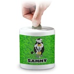 Cow Golfer Coin Bank (Personalized)