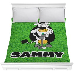 Cow Golfer Comforter (Personalized)