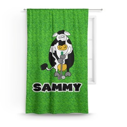 Cow Golfer Curtain (Personalized)