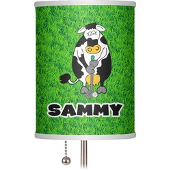 "Cow Golfer 7"" Drum Lamp Shade (Personalized)"