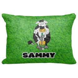"Cow Golfer Decorative Baby Pillowcase - 16""x12"" (Personalized)"