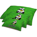 Cow Golfer Dog Bed w/ Name or Text