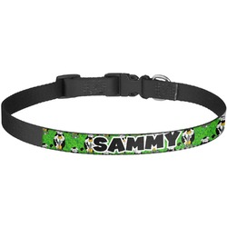 Cow Golfer Dog Collar - Large (Personalized)