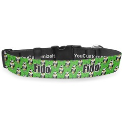 Cow Golfer Deluxe Dog Collar (Personalized)