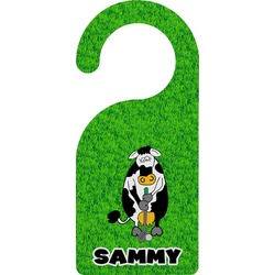 Cow Golfer Door Hanger (Personalized)
