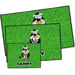 Cow Golfer Door Mat (Personalized)
