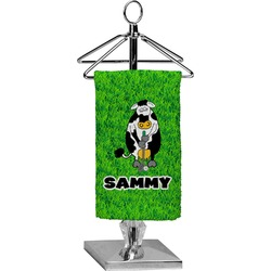 Cow Golfer Finger Tip Towel - Full Print (Personalized)
