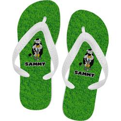 Cow Golfer Flip Flops (Personalized)