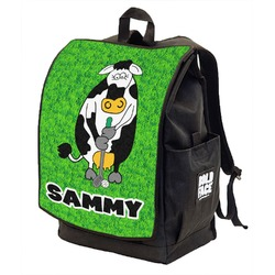 Cow Golfer Backpack w/ Front Flap  (Personalized)