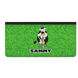 Cow Golfer Genuine Leather Checkbook Cover (Personalized)