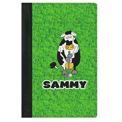 Cow Golfer Genuine Leather Passport Cover (Personalized)