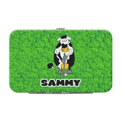 Cow Golfer Genuine Leather Small Framed Wallet (Personalized)