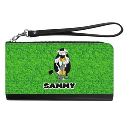 Cow Golfer Genuine Leather Smartphone Wrist Wallet (Personalized)