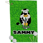 Cow Golfer Golf Towel - Full Print (Personalized)