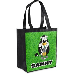 Cow Golfer Grocery Bag (Personalized)
