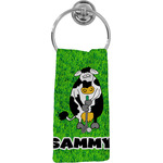 Cow Golfer Hand Towel - Full Print (Personalized)