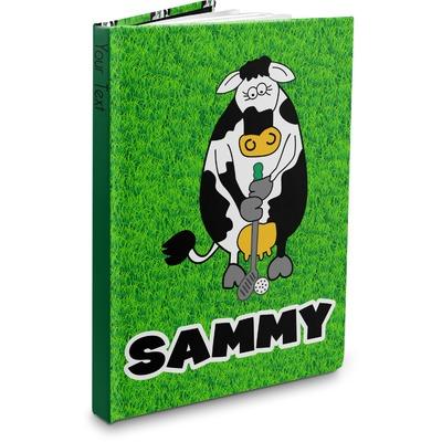 Cow Golfer Hardbound Journal (Personalized)