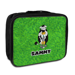 Cow Golfer Insulated Lunch Bag (Personalized)