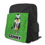 Cow Golfer Kid's Backpack with Customizable Flap (Personalized)