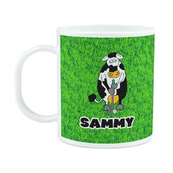 Cow Golfer Plastic Kids Mug (Personalized)