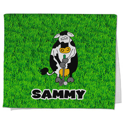 Cow Golfer Kitchen Towel - Full Print (Personalized)