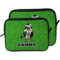 Cow Golfer Laptop Sleeve / Case (Personalized)