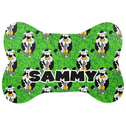 Cow Golfer Bone Shaped Dog Food Mat (Personalized)