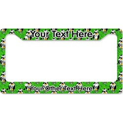 Cow Golfer License Plate Frame (Personalized)