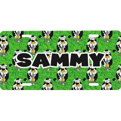 Cow Golfer Front License Plate (Personalized)