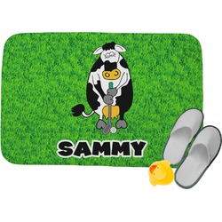 Cow Golfer Memory Foam Bath Mat (Personalized)