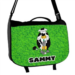 Cow Golfer Messenger Bag (Personalized)