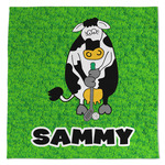 Cow Golfer Large Microfiber Dish Rag (Personalized)