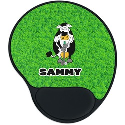 Cow Golfer Mouse Pad with Wrist Support