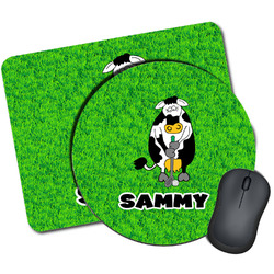 Cow Golfer Mouse Pads (Personalized)