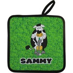 Cow Golfer Pot Holder w/ Name or Text