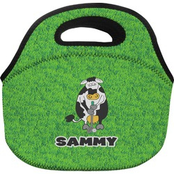 Cow Golfer Lunch Bag (Personalized)