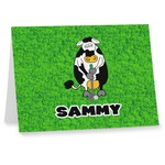 Cow Golfer Note cards (Personalized)