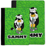 Cow Golfer Notebook Padfolio w/ Name or Text