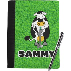Cow Golfer Notebook Padfolio (Personalized)
