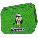 Cow Golfer Dining Table Mat - Octagon w/ Name or Text