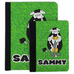 Cow Golfer Padfolio Clipboard (Personalized)